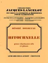 Ritournelle Désiré Dondeyne Partition Clarinette - laflutedepan.com