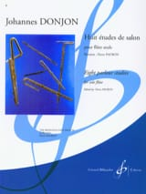 8 Etudes de Salon Johannes Donjon Partition laflutedepan.com