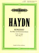Oboenkonzert C-Dur Hob. 7g : C1 Oboe Klavier laflutedepan.com