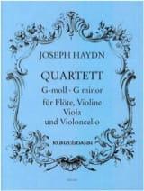 Joseph Haydn - Quartett g-moll – Flöte Violine Viola Violoncello - Stimmen - Partition - di-arezzo.fr