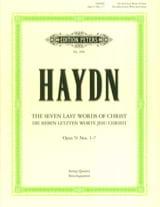 Joseph Haydn - Streichquartette op. 51 : Die 7 letzten Worte Jesus Christi –Parties - Partition - di-arezzo.fr