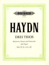 3 Trios Hob. 4 : Es 1, Es 2, B 1 -Klarinette Violine Cello o. Fagott laflutedepan.com