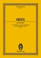 Edvard Grieg - Streich-Quartett G-Moll, Op. 27 - Sheet Music - di-arezzo.co.uk