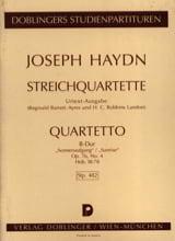 Streichquartett B-Dur op. 76 n° 4 Hob. 3 : 78– Partitur - laflutedepan.com