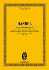 Concerto gross G-Dur Georg F Haendel Partition laflutedepan.com