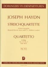 Streichquartett G-Dur op. 33 n° 5 Hob. 3 : 41 - Partitur laflutedepan.com