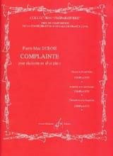 Complainte Pierre-Max Dubois Partition Clarinette - laflutedepan.com