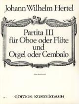 Partita Nr. 3 Johann Wilhelm Hertel Partition laflutedepan.com