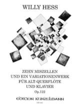 10 Miszellen und ein Variationenwerk – Altquerflöte u. Klavier - laflutedepan.com