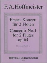 Franz Anton Hoffmeister - Konzert Nr. 1 for 2 Flöten op. 64 - 2 Flöten Klavier - Sheet Music - di-arezzo.co.uk