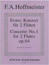 Franz Anton Hoffmeister - Konzert Nr. 1 für 2 Flöten op. 64 - 2 Flöten Klavier - Noten - di-arezzo.de