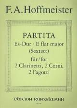 Franz Anton Hoffmeister - Partita Es-Dur – 2 Clarinetti 2 corni 2 fagotti - Stimmen - Partition - di-arezzo.fr