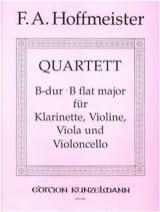 Franz Anton Hoffmeister - Quartet B-Dur – Klarinette Violine Viola Violoncello - Partition - di-arezzo.fr