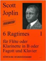 Scott Joplin - 6 Ragtimes Bd. 1 - Flöte o. Klarinette, Fagott Klavier - Partition - di-arezzo.fr