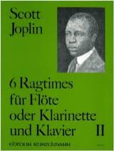Scott Joplin - 6 Ragtimes Bd. 2 - Flöte o. Klarinette Klavier - Partition - di-arezzo.fr