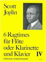 Scott Joplin - 6 Ragtimes Bd. 4 - Flöte o. Klarinette Klavier - Partition - di-arezzo.fr