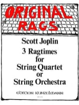 Scott Joplin - 3 Ragtimes for String Quartet or String orch. - Partition - di-arezzo.fr