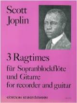 3 Ragtimes - Sopranblockflöte Gitarre Scott Joplin laflutedepan.com