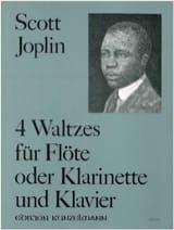 Scott Joplin - 4 Walzer - Flöte o. Klarinette Klavier - Partition - di-arezzo.fr