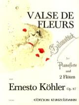 Ernesto KÖHLER - Valse des fleurs op. 87 –2 Flöten Klavier - Partition - di-arezzo.fr