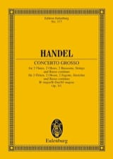 Concerto grosso B-Dur HAENDEL Partition laflutedepan.com