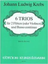 6 Trios - Heft 2 – 2 Flöten (Violinen) Bc laflutedepan.com