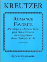 Romance favorite Conradin Kreutzer Partition laflutedepan.com