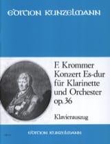 Concerto Op. 36 en Mib Majeur Franz Krommer Partition laflutedepan.com