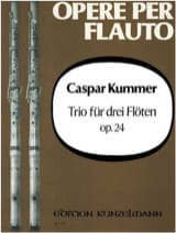 Gaspard Kummer - Trio op. 24 - 3 Flöten - Partition - di-arezzo.fr