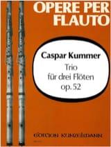 Gaspard Kummer - Trio op. 52 – 3 Flöten - Partition - di-arezzo.fr