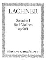 Sonatine op. 90 n° 1 Ignaz Lachner Partition laflutedepan.com