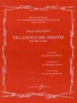 Villancico del Infante - Maurice Faillenot - laflutedepan.com