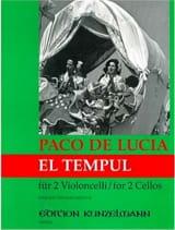 El Tempul Paco De Lucia Partition Violoncelle - laflutedepan.com