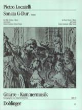 Pietro Locatelli - Sonata G-Dur – Flöte (Violine, Oboe) Gitarre - Partition - di-arezzo.fr