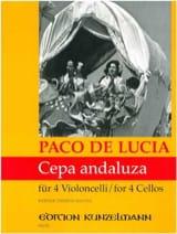 Cepa andaluza Paco de Lucia Partition Violoncelle - laflutedepan.com
