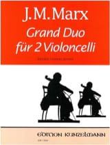 Grand Duo J. M. Marx Partition Violoncelle - laflutedepan