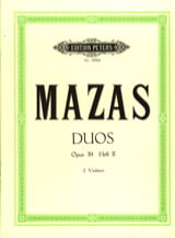 MAZAS - Duos op. 39 - Bd. 2 - Sheet Music - di-arezzo.co.uk