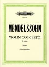 MENDELSSOHN - Violin Concerto D minor Menuhin -conductor - Sheet Music - di-arezzo.co.uk
