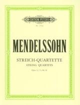 MENDELSSOHN - Streichquartette op. 12, 13, 80, 81 - Stimmen - Sheet Music - di-arezzo.co.uk