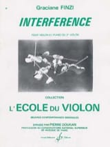 Interférence - Graciane Finzi - Partition - Violon - laflutedepan.com