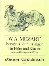 Sonate A-Dur, Kv 298 - Flöte Klavier MOZART Partition laflutedepan.com
