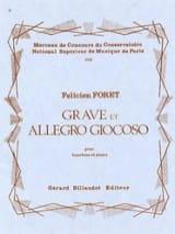 Grave et Allegro Giocoso Félicien Foret Partition laflutedepan.com