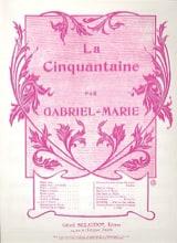 La Cinquantaine – Alto Gabriel-Marie Partition Alto - laflutedepan.com