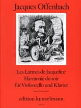 Jacques Offenbach - Tears of Jacqueline op. 76 n ° 2 / Evening Harmony - Sheet Music - di-arezzo.com