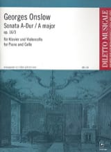 Georges Onslow - Sonate A-Dur op. 16 n° 3 - Partition - di-arezzo.fr