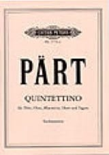 Quintettino - Stimmen Arvo Pärt Partition laflutedepan.com