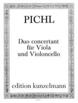 Duo concertant für Viola und Violoncello Vaclav Pichl laflutedepan.com