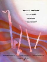 21 Caprices Vincenzo Gambaro Partition Clarinette - laflutedepan
