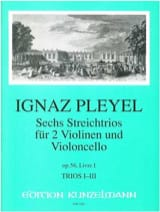 Ignaz Pleyel - 6 Trios op. 56 - Book 1: Nr. 1-3 - 2 Violinen u. Violoncello - Stimmen - Sheet Music - di-arezzo.com