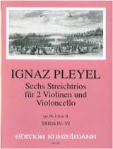 Ignaz Pleyel - 6 Trios op. 56 - Livre 2 (: Nr. 4-6) –2 Violinen u. Violoncello - Stimmen - Partition - di-arezzo.fr